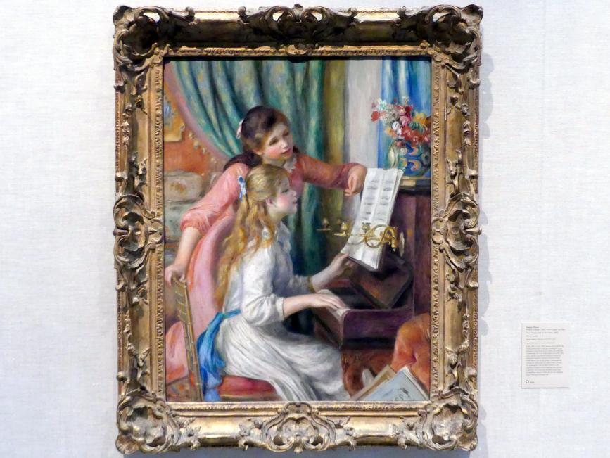Auguste Renoir (Pierre-Auguste Renoir): Zwei junge Mädchen am Klavier, 1892