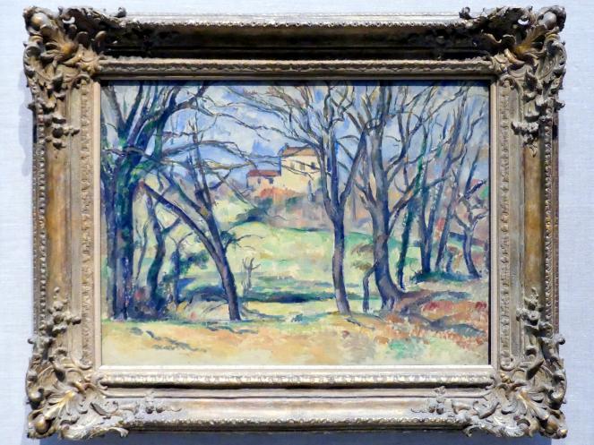 Paul Cézanne: Bäume und Häuser in der Nähe des Jas de Bouffan, 1885 - 1886