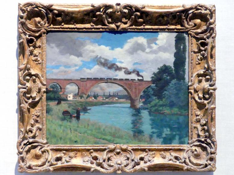 Armand Guillaumin: Eisenbahnbrücke über die Marne bei Joinville, 1871 - 1875
