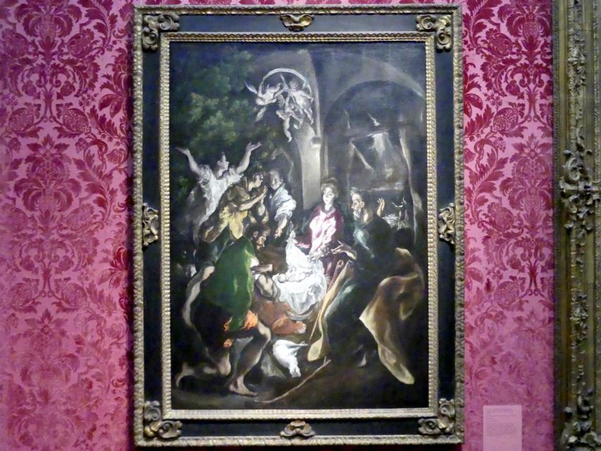 El Greco (Domínikos Theotokópoulos): Anbetung der Hirten, um 1605 - 1610