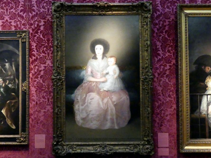 Francisco de Goya (Francisco José de Goya y Lucientes): Condesa de Altamira und ihre Tochter María Agustina, 1787 - 1788
