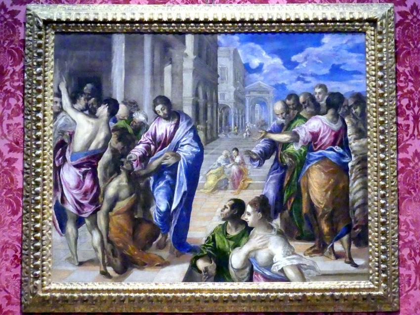 El Greco (Domínikos Theotokópoulos): Christus heilt den Blinden, um 1570