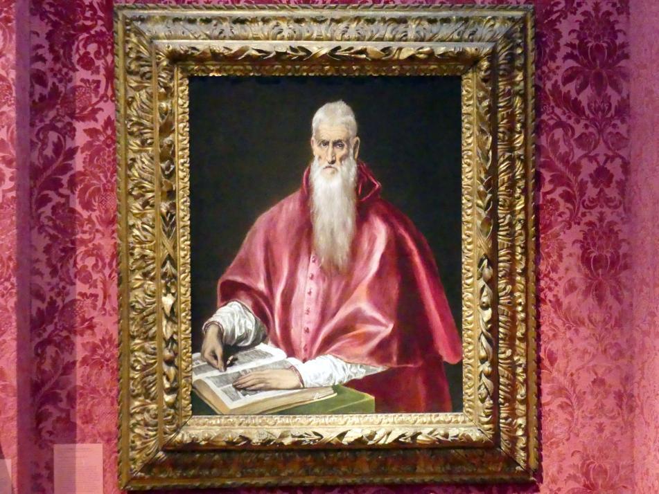 El Greco (Domínikos Theotokópoulos): Der hl. Hieronymus als Kirchenlehrer, um 1610