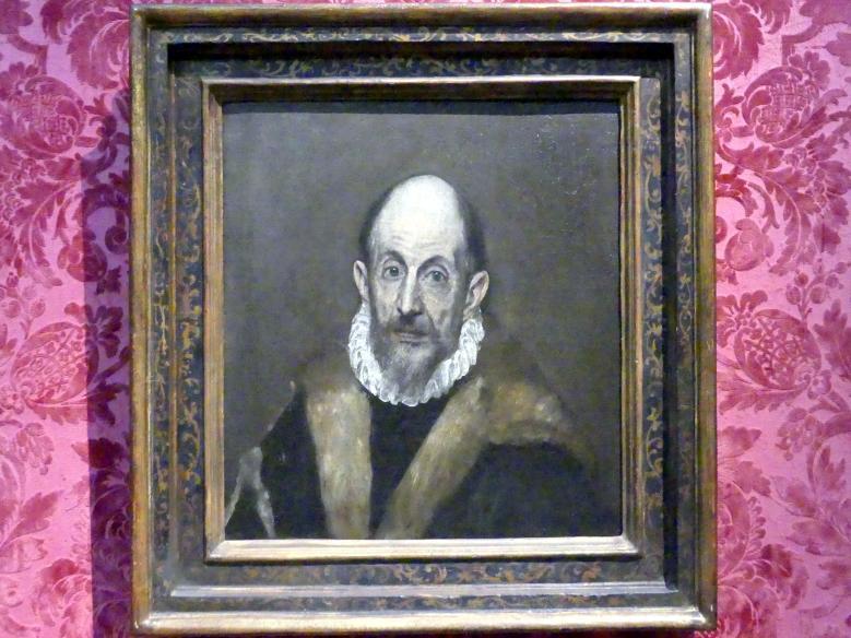 El Greco (Domínikos Theotokópoulos): Bildnis eines alten Mannes, um 1595 - 1600