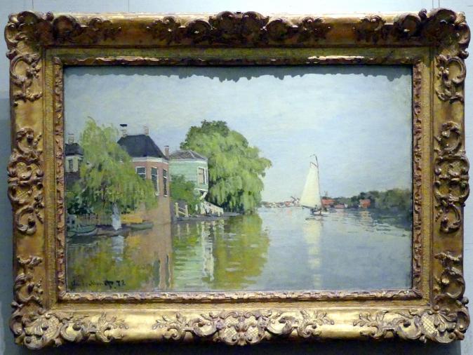 Claude Monet: Häuser am Achterzaan, 1871