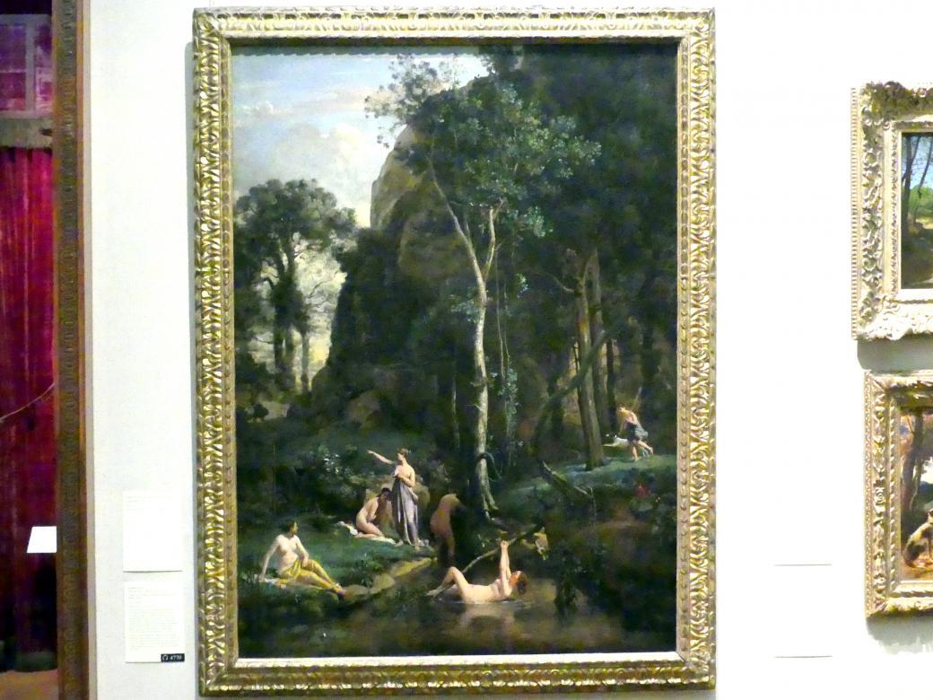 Jean-Baptiste Camille Corot: Diana und Actaeon (Diana in ihrem Bad überrascht), 1836