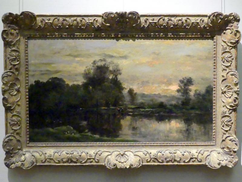 Charles-François Daubigny: Landschaft mit Enten, 1872