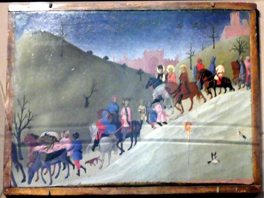 Stefano di Giovanni di Consolo (Sassetta): Die Reise der Könige, um 1433 - 1435