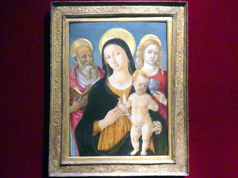 Matteo di Giovanni: Madonna und Kind mit den Heiligen Hieronymus und Maria Magdalena, Undatiert