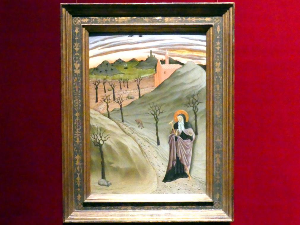 Meister der Osservanza: Heiliger Antonius Abbas in der Wildnis, um 1435