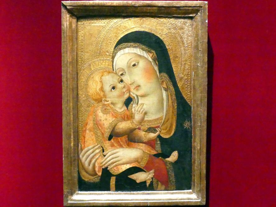 Sano di Pietro (Werkstatt): Maria mit Kind, um 1448 - 1460