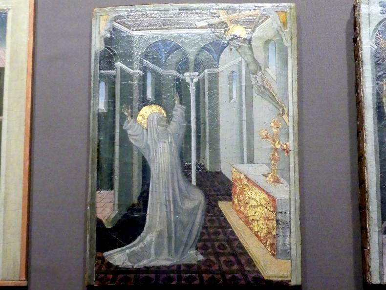 Giovanni di Paolo: Die Heilige Katharina von Siena empfängt die Stigmata, um 1447 - 1465