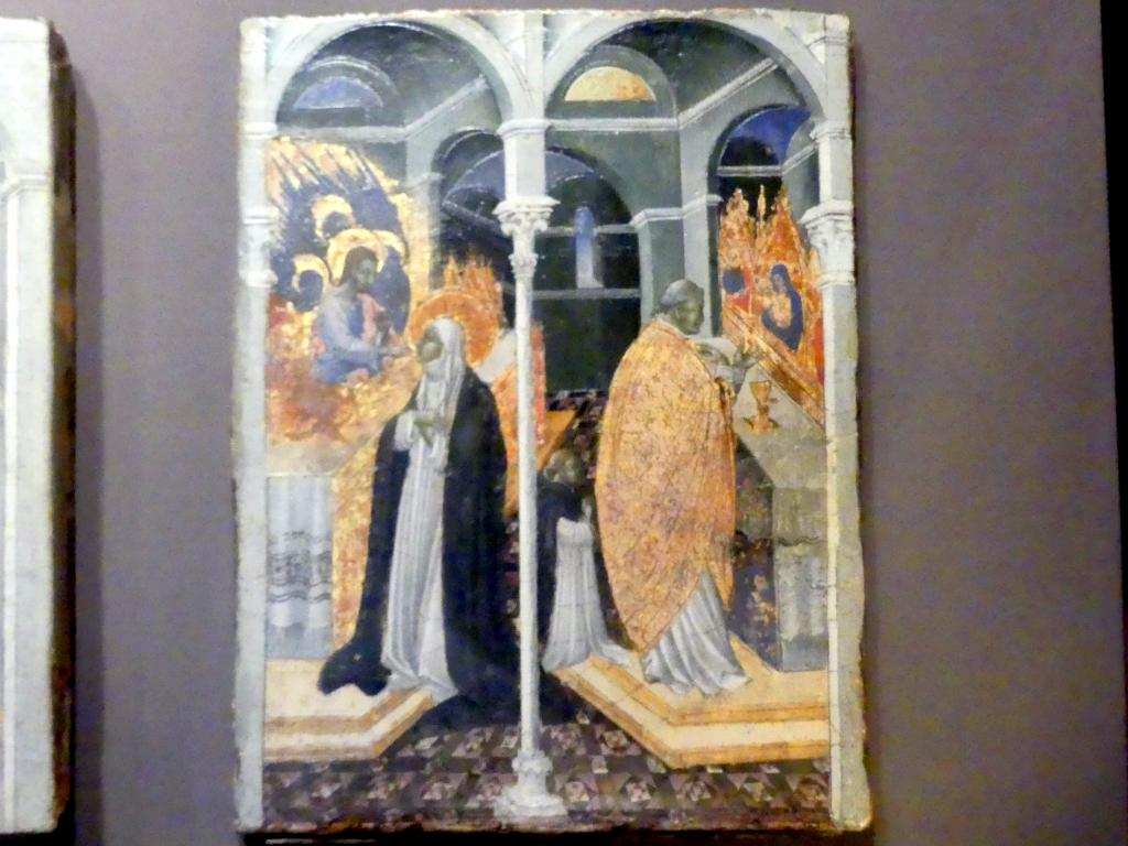 Giovanni di Paolo: Die wundersame Kommunion der Heiligen Katharina von Siena, Undatiert