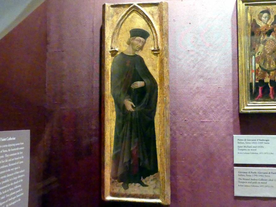 Giovanni di Paolo: Der selige Andrea Gallerani (gestorben 1251), um 1447 - 1465
