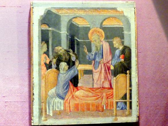 Giovanni di Paolo: Der heilige Johannes der Evangelist erweckt Drusiana, um 1460