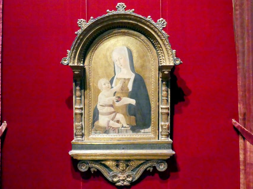 Benvenuto di Giovanni: Maria mit Kind, um 1470