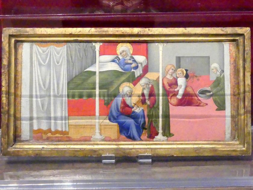 Sano di Pietro: Die Geburt und Namensgebung des Heiligen Johannes des Täufers, um 1450 - 1453