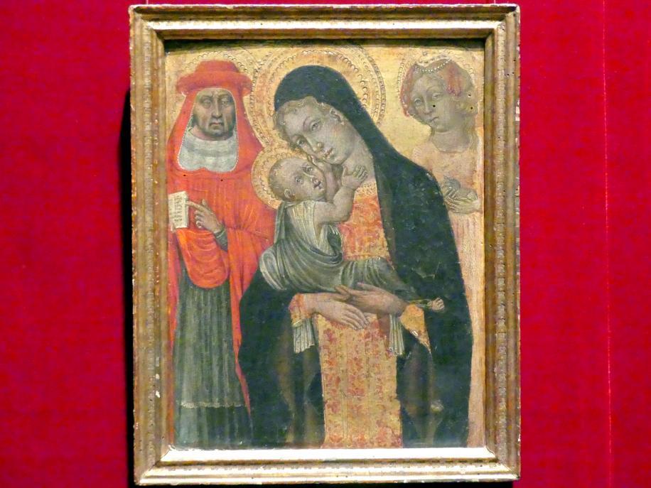 Giovanni di Paolo: Maria mit Kind und den Heiligen Hieronymus und Agnes, um 1465