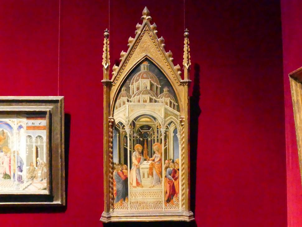 Giovanni di Paolo: Verkündigung an Zacharias, um 1455 - 1460