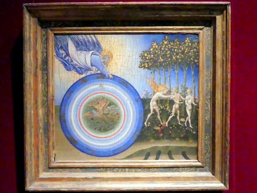 Giovanni di Paolo: Die Schöpfung der Welt und die Vertreibung aus dem Paradies, 1445