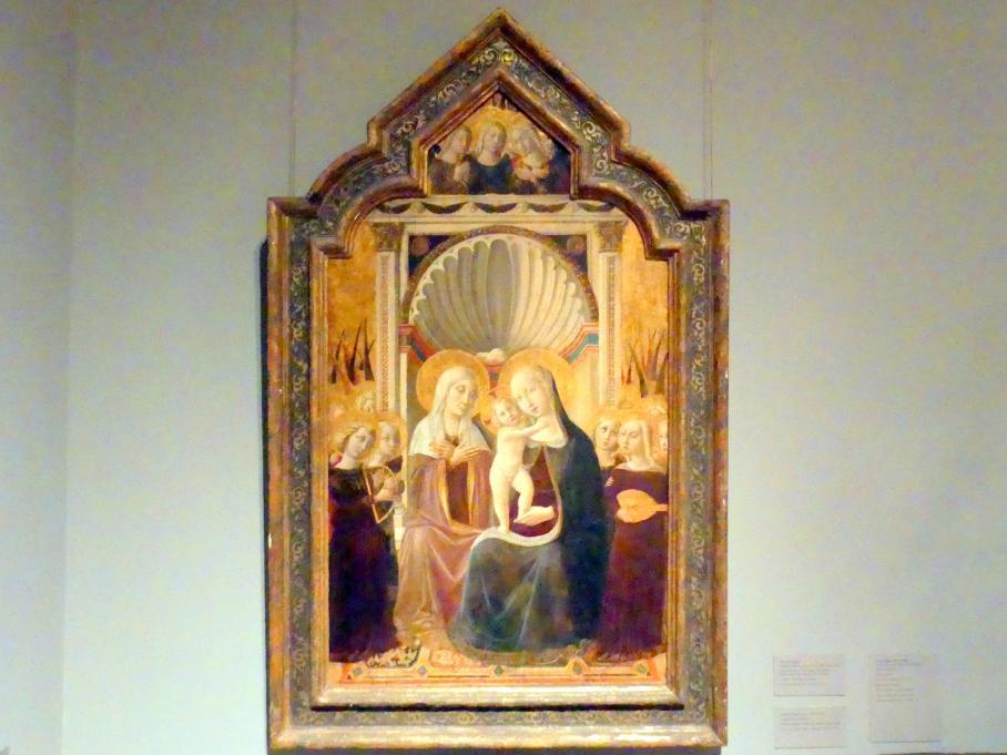 Nicolò Alunno (Niccolò di Liberatore): Heilige Anna Selbdritt mit Engeln, um 1458 - 1461