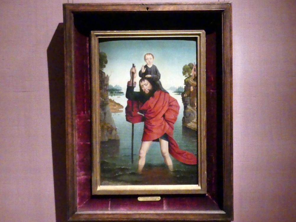 Dieric Bouts d.Ä. (Nachfolger): Der heilige Christophorus mit dem Jesusknaben, 1479 - 1483