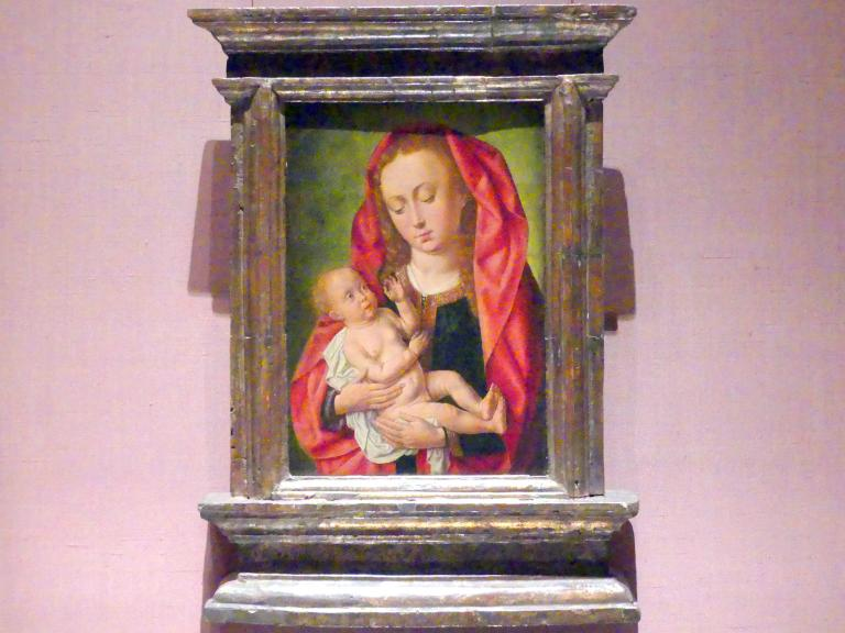 Meister des Saint Gilles: Maria mit Kind und einer Libelle, um 1500
