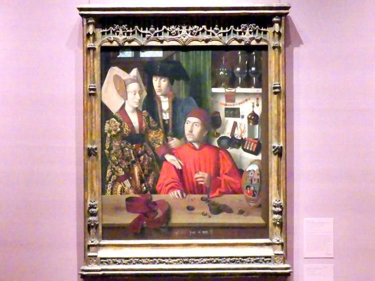 Petrus Christus: Ein Goldschmied in seinem Geschäft, möglicherweise Sankt Eligius, 1449