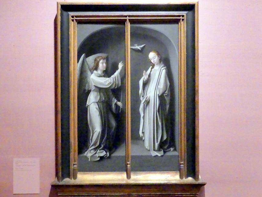 Gerard David: Erzengel Gabriel; Mariä Verkündigung, um 1510