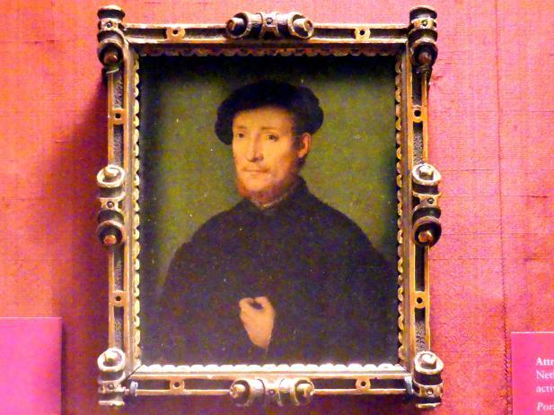 Corneille de Lyon: Porträt eines Mannes mit der Hand auf seiner Brust, 1540 - 1545