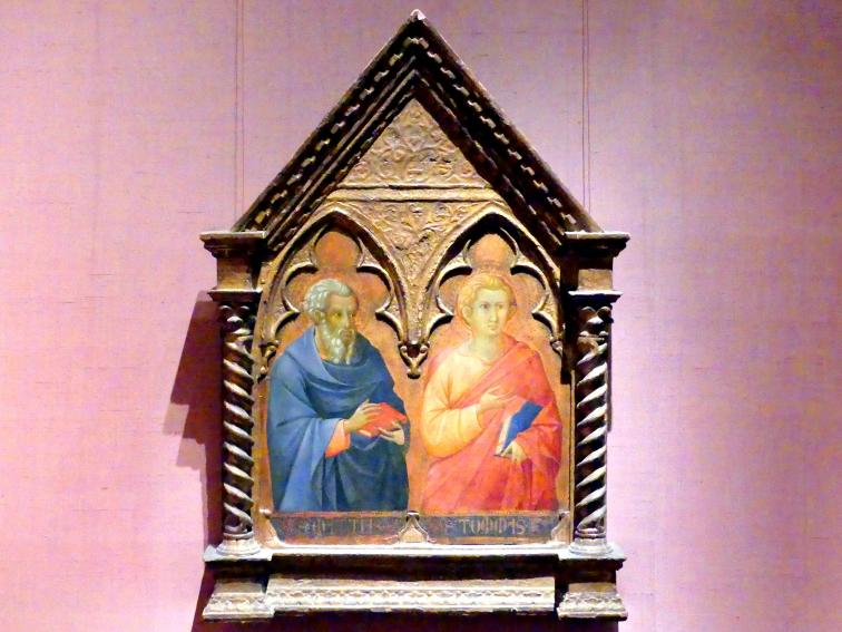 Bartolomeo Bulgarini: Die Apostel Matthias und Thomas, um 1350