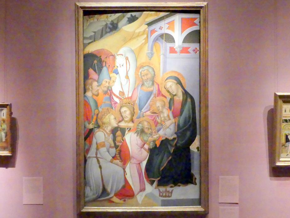 Bartolo di Fredi: Anbetung der Könige, um 1390