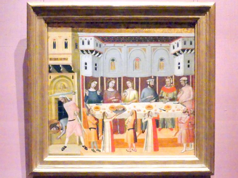 Giovanni Baronzio: Das Fest des Herodes und die Enthauptung des Täufers, um 1330 - 1335