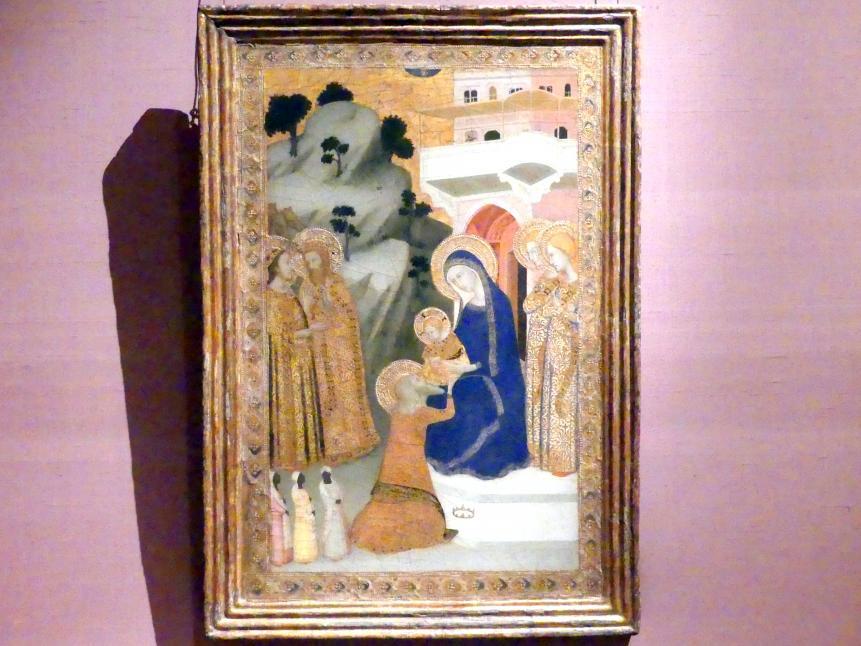 Giotto di Bondone (Nachfolger): Anbetung der Könige, um 1340 - 1343