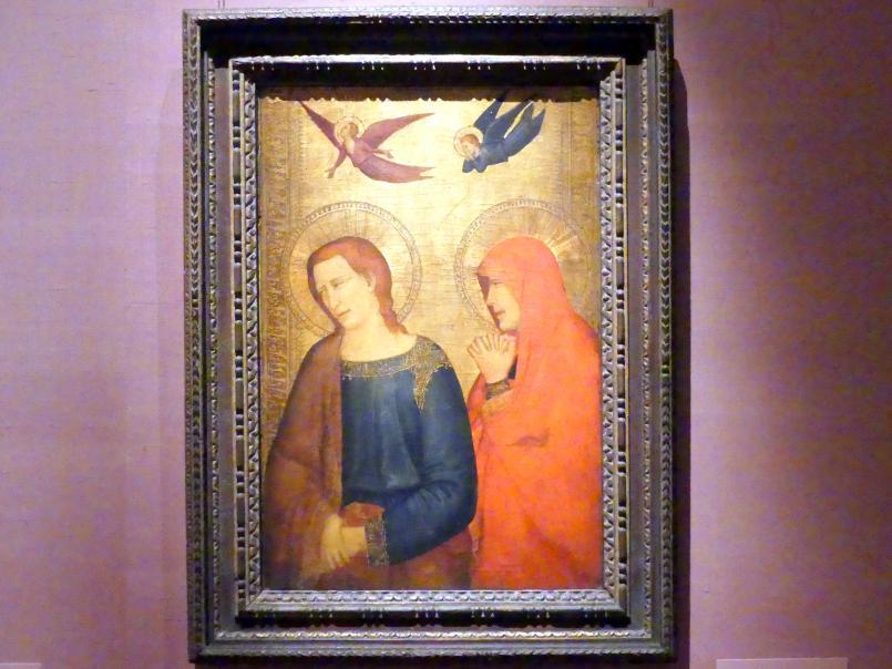 Giotto di Bondone (Nachfolger): Evangelist Johannes und Maria Magdalena, um 1335 - 1345
