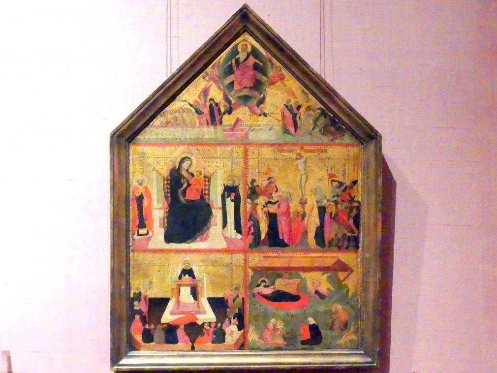 Meister der Dominikanischen Bildnisse: Das Jüngste Gericht; Die Jungfrau und das Kind mit einem Bischof und dem Heiligen Peter Martyr; Die Kreuzigung; Die Verherrlichung des Heiligen Thomas von Aquin; Die Geburt Christi, um 1325
