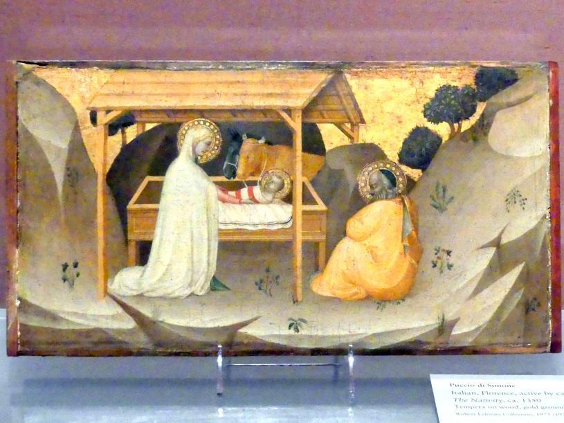 Puccio di Simone: Christi Geburt, um 1350