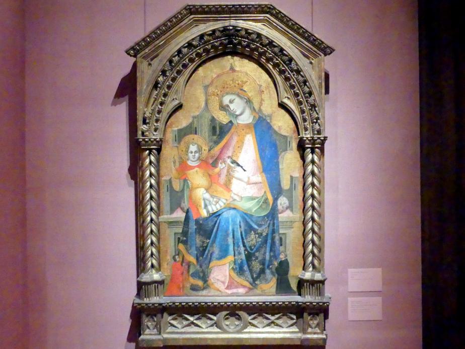 Lorenzo Veneziano: Thronende Maria mit Kind und zwei Stiftern, um 1360 - 1365