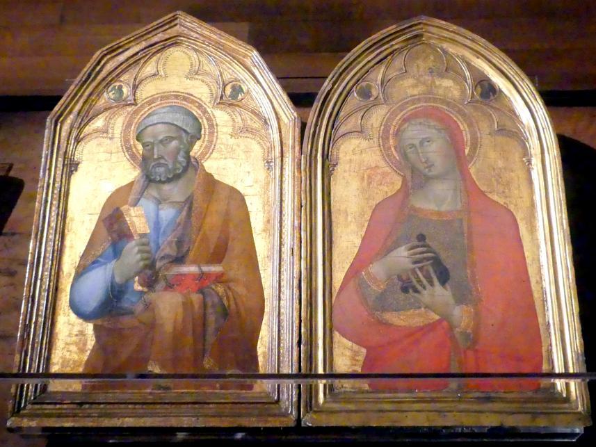Lippo Memmi (Umkreis): Die Heiligen Petrus und Maria Magdalena, Mitte 14. Jhd.