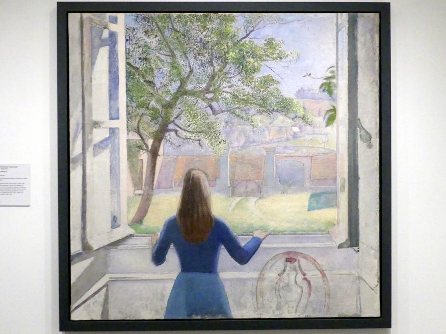 Balthus (Balthasar Kłossowski de Rola): Mädchen am Fenster, 1957