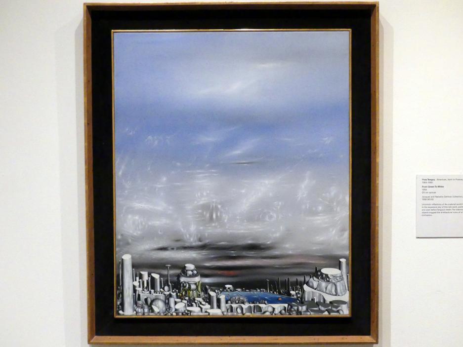 Yves Tanguy: Von Grün nach Weiß, 1954