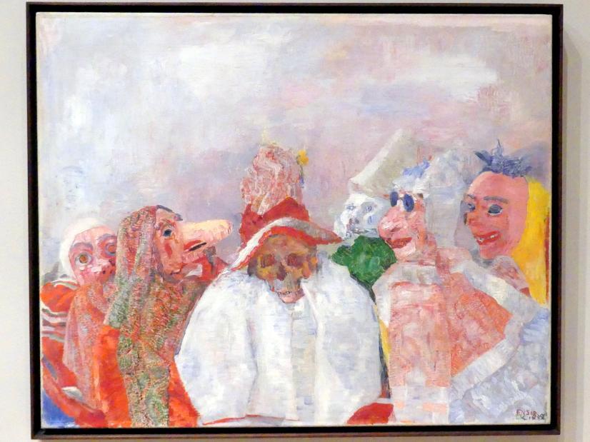 James Ensor: Masken begegnen dem Tod, 1888