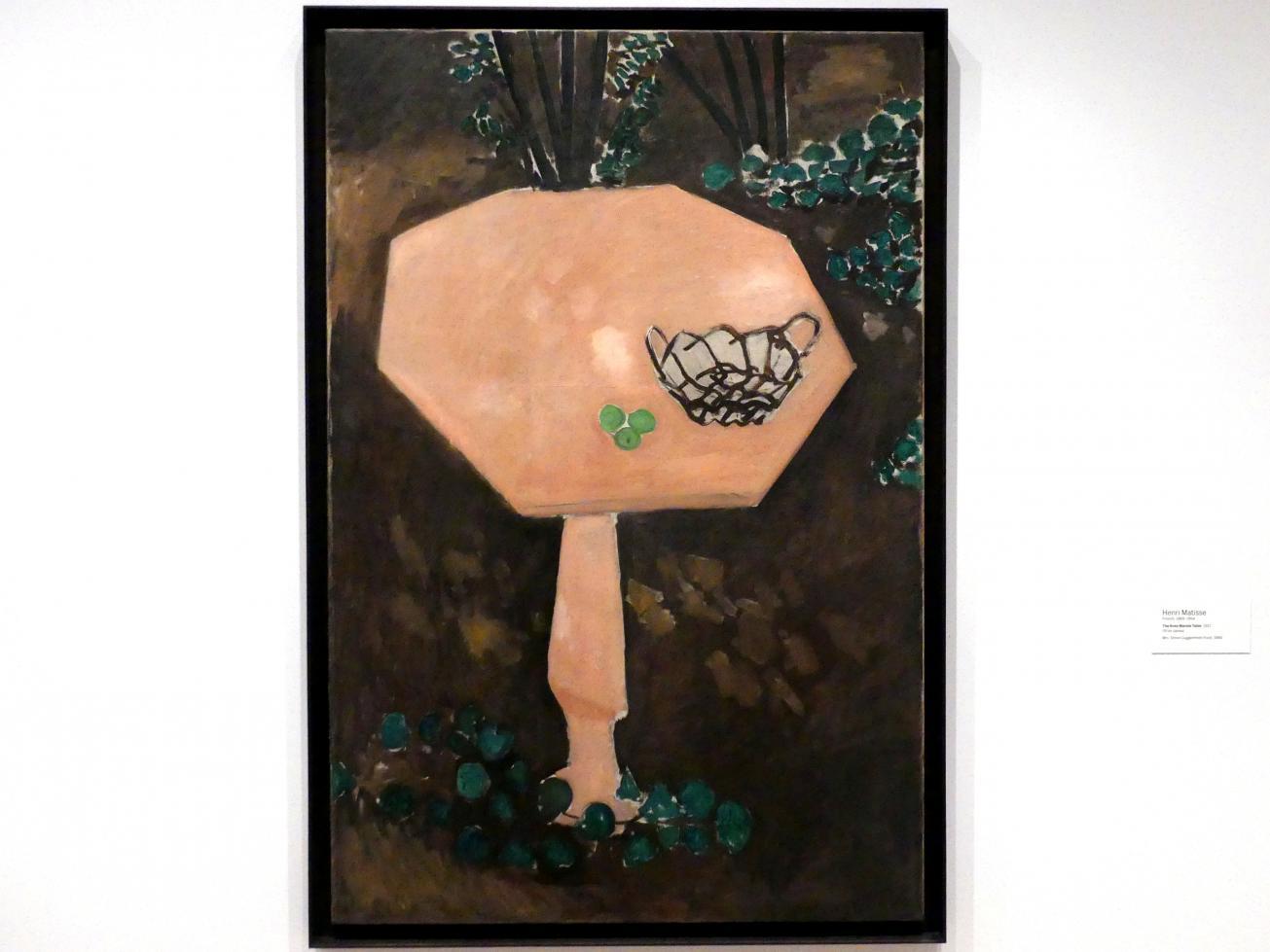 Henri Matisse: Der Rosenmarmortisch, 1917