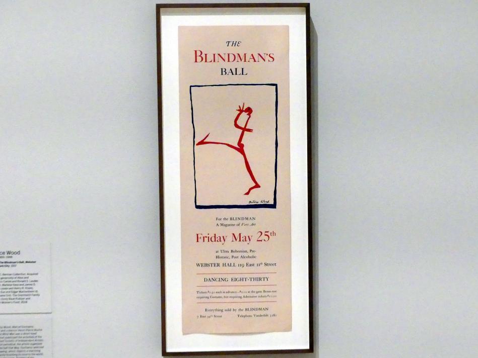 Beatrice Wood: Plakat für den Blindenball, Webster Hall, New York City, 1917