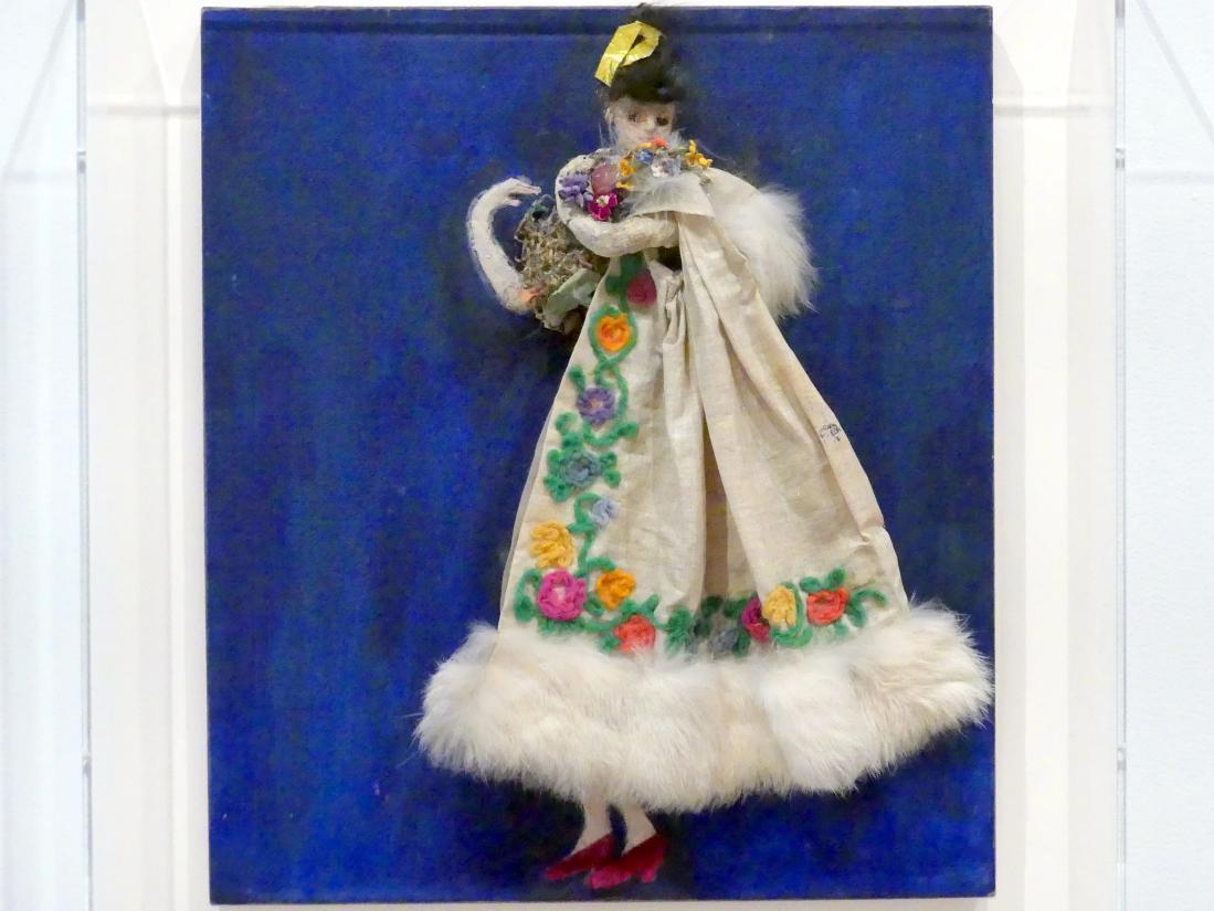 Florine Stettheimer: Kostümdesign (Georgette) für das Künstlerballett Orphée der Quat-z-arts, um 1912