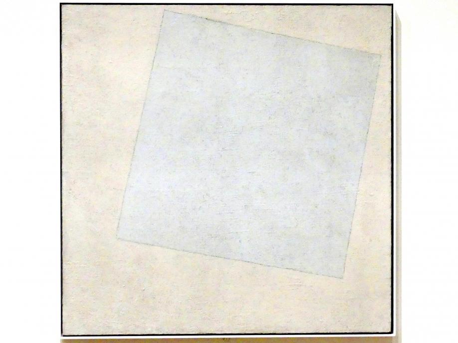 Kasimir Sewerinowitsch Malewitsch: Suprematistische Komposition: Weiß auf Weiß, 1918