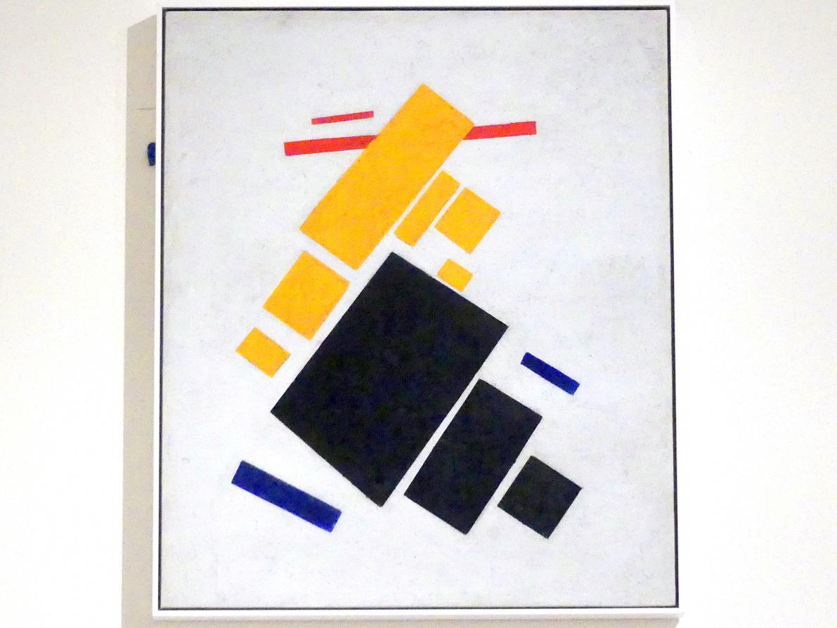 Kasimir Sewerinowitsch Malewitsch: Suprematistische Komposition: Fliegendes Flugzeug, 1915