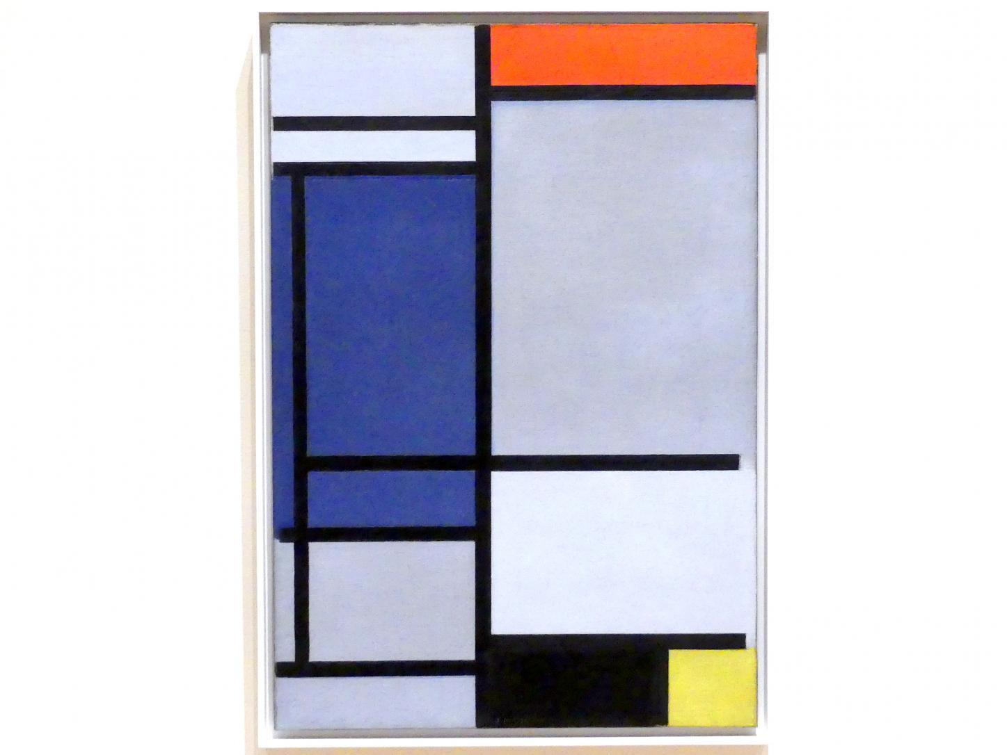 Piet Mondrian: Komposition mit Rot, Blau, Schwarz, Gelb und Grau, 1921