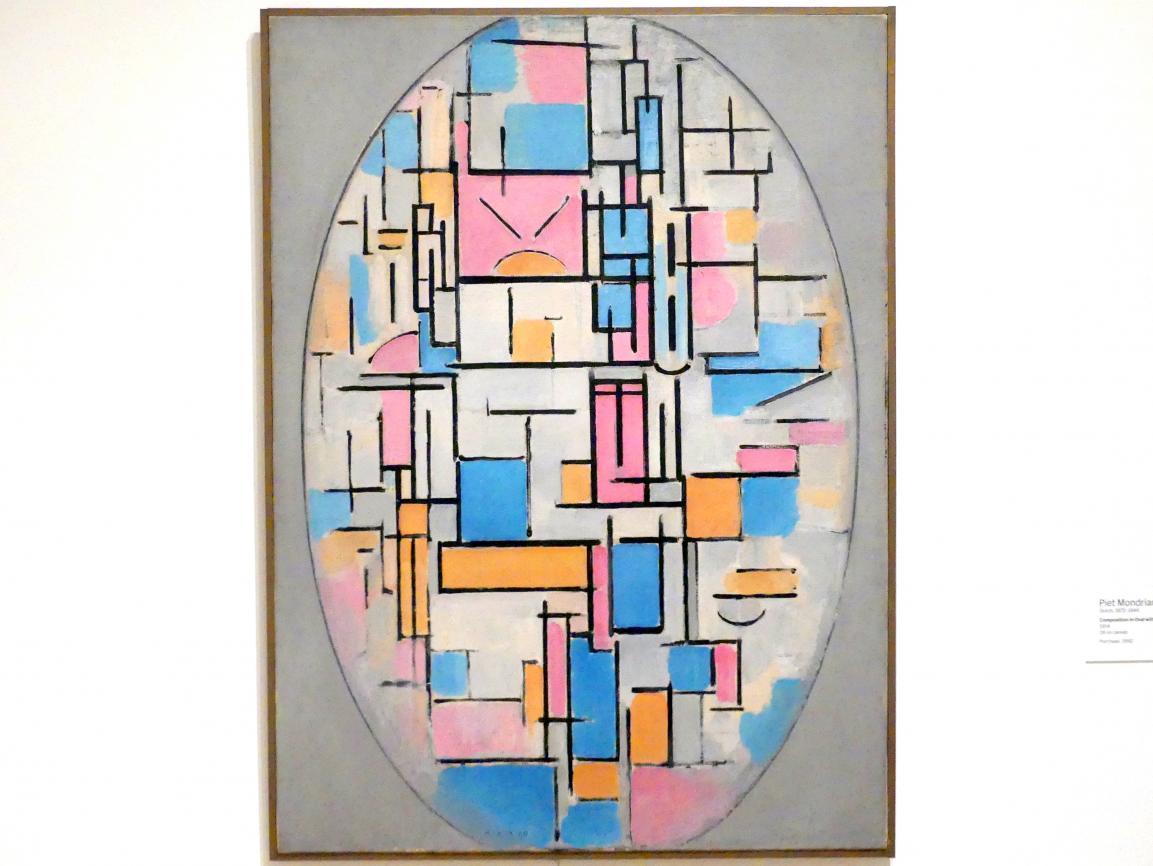 Piet Mondrian: Komposition in Oval mit Farbebenen 1, 1914