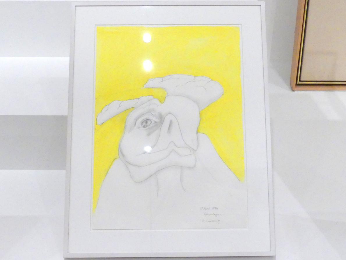 Maria Lassnig: Gehirnlappen, 1996